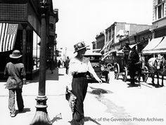 West San Francisco Street at Don Gaspar, Santa Fe, New Mexico Photographer: Wesley Bradfield Date: circa 1918? POG Negative Number 014142 This image is available as a print from the Museum of New...