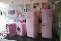 Electrodomésticos rosa.