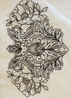 Henna Tattoos, Henna Tattoo Sleeve, Backpiece Tattoo, Flower Tattoos, Black Tattoos, Body Art Tattoos, Lace Tattoo Design, Henna Tattoo Designs, Mommy Tattoos