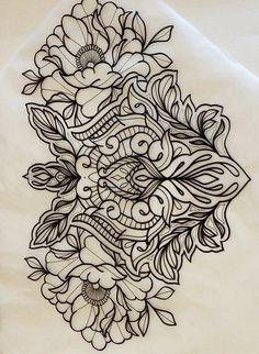 Henna Tattoos, Lace Tattoo, Flower Tattoos, Body Art Tattoos, Girl Tattoos, Sleeve Tattoos, Mandala Tattoo Design, Tattoo Designs, Mandala Chest Tattoo