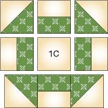 Shoo-fly quilt block how to