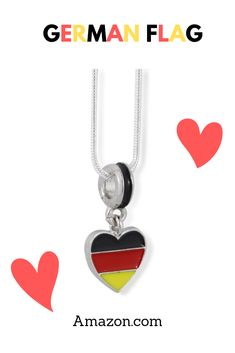 German Flag on Heart Charm Snake Chain Necklace  - German Flag on Heart Silver Plated Snake Chain Charm Necklace - Perfect Gift for Germany Lovers - 20 inch Chain - Snake Chain for Comfort and Ease of Wear - Order Now for Immediate Shipment by Amazon Amazon Christmas Gifts, Gifts For Women, Gifts For Her, Unique Gifts, Best Gifts, Jewelry For Her, Handmade Jewelry, Jewelry Gifts, Surprise Gifts