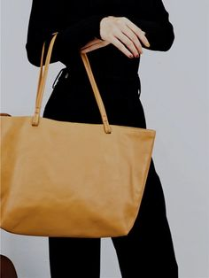 "Material: Cowhide Color: Tan Dimensions:Inches: Height 11"" x Width 12.6""-17.7"" x Depth 5.1"" Inches Backpack Bags, Tote Bags, Shopper Tote, Vintage Bags, Purses And Bags, Leather Totes, Handmade Leather, Stuff To Buy, Collection"