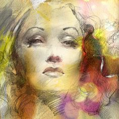Fragile and Pure 1 - painting by Anna Razumovskaya ||  Marlene Dietrich #Art  #Painting #MarleneDietrich