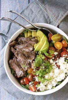 Carne Asada Steak Salad with Mojo Dressing - Pinch and Swirl
