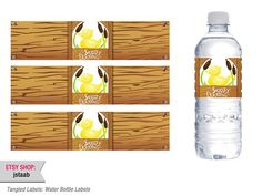 Tangled Labels Water Bottle Labels by jstaab on Etsy, $7.00