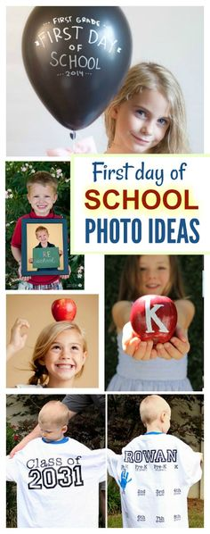 First Day of School Photo Ideas! So many cute ideas for parents and teachers as we head back to school this fall!
