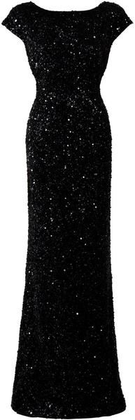 Sequin Cap Sleeve Gown - Lyst