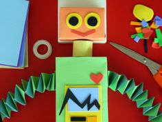 recycled robot art project #kidsart