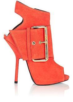 d56d46c2e3e Giuseppe Zanotti Buckle-Detail Suede Ankle Boots - Boots - 505416184 Peep  Toe Ankle Boots