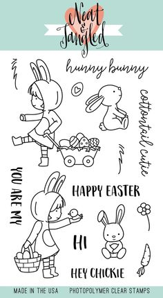 Neat and Tangled cottontail cuties Coloring Books, Coloring Pages, Neat And Tangled, Hunny Bunny, Doodles, Fluffy Bunny, Tampons, Digital Stamps, Clear Stamps