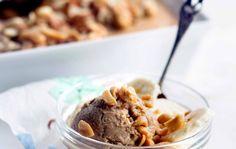 Banana ice cream with nuts - Pähkinäinen banaanijäätelö, Ruoka.fi resepti