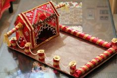 Ideas For Wedding Gifts Indian Beautiful Indian Wedding Gifts, Diy Wedding Gifts, Indian Wedding Decorations, Wedding Crafts, Wedding Ideas, Indian Weddings, House Decorations, Unique Weddings, Diy Gifts
