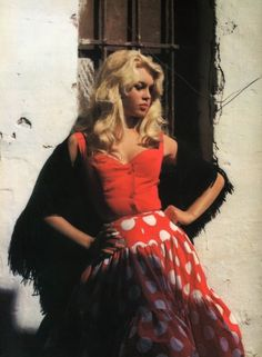 Bardot. All in red.