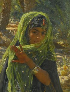 Etienne Dinet (French, 1861-1929). Girl with veil, 1901