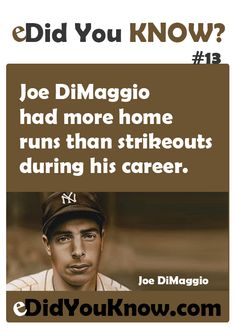This is an an amazing stat. I bet there aren't 10 starting regular baseball players in the history of baseball that have more career homeruns than strikeouts.