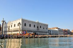 Doge's Palace seen from the waterside, Regatta of the Ancient Maritime Republics, Venice, Italy