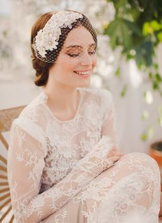 MAYA birdcage www.janniebaltzer.com Photo   Sandra Åberg - wedding couture - fashion - bridal designer - lace