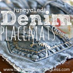 denim placemat
