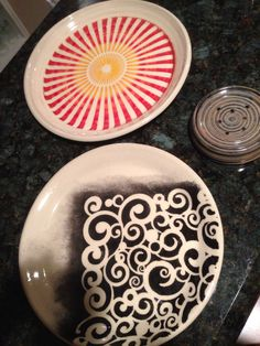 New plates with fun stencils