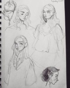 Drawing Doodles Sketches I like the lil one at the bottom ✨ * * Sketchbook Drawings, Drawing Sketches, Canson Sketchbook, Sketching, Portrait Sketches, Pretty Art, Cute Art, Illustration Art, Illustrations