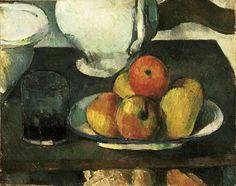 Still Life with Apples and a Glass of Wine , Paul Cezanne