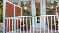 A privacy wall can provide shade as well as block unwanted views. #privacywalls #privacypanels Autumn Decorating, Fall Decor, Decorating Ideas, Deck Posts, Privacy Panels, Diy Porch, Deck Lighting, Deck Railings, Outdoor Living