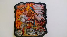 Good Sports Iron on Patch Wolf and Eagle Motorcycle The Legend Lives On | eBay