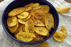 Super easy recipe for a crispy bowl of healthy plantain chips fried in coconut oil. Tastes like a potato chip...only better for you. Ideal for paleo and gluten-free dieters.