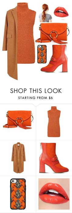 """Fifty Shades Of Orange"" by laura-overgaard ❤ liked on Polyvore featuring Tory Burch, The 2nd Skin Co., Boutique Moschino and Casetify"