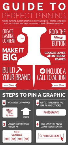 The Art and Science of Pinterest Visual Marketing. Pinterest infographic for the Guide to Perfect Pinning
