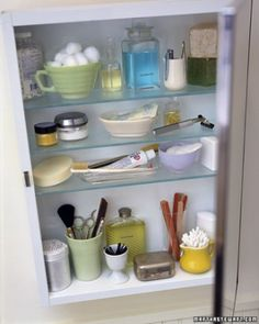 """See the """"Medicine Cabinet Makeover"""" in our Spring-Cleaning the Bedroom and Bathroom gallery"""