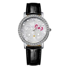 Fashion Hello Kitty Luxury Rhinestone Watch Women Watches Ladies Girl Cartoon Leather Quartz Watch Lady Hour Reloj Mujer Like and share if you think it`s fantastic! Visit our store