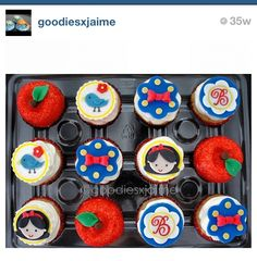 Snow White cupcakes are adorable from #goodiesxjaime