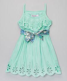Look at this Mint Maya Dress - Toddler & Girls on #zulily today!