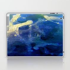 Message from the sea 18 /the effect of the force of water upon something Laptop & iPad Skin