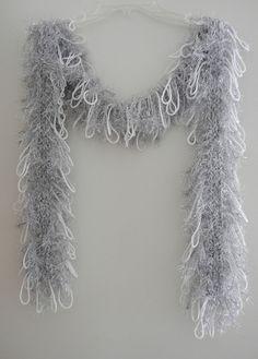 Handmade Glamour Scarf Glitter Silver Eyelash by MerlinDesigns, $35.00