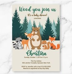 Virtual Baby Shower, Baby Shower Fun, Baby Shower Parties, Baby Showers, Fun Baby, Forest Animals, Woodland Animals, Kate Baby, Woodland Baby