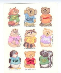 Hallmark Shirt Tales Sticker Sheet Vintage by CollectorsWarehouse