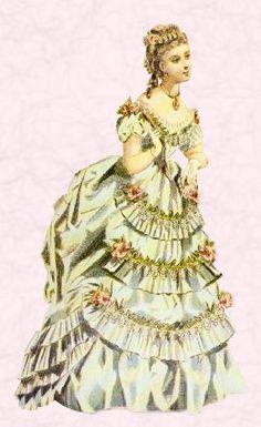 bustle era dresses   Costume History/Bustle - Wikibooks, open books for an open world