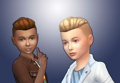 The Sims 4 | My Stuff: GP02 Spa Day Undercut Hairstyle converted for Boys | hairs for male child