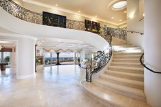 Healthy living at home devero login account access account Foyer Staircase, Winding Staircase, Curved Staircase, Interior And Exterior, Interior Design, Luxury Interior, Travertine Floors, Stairway To Heaven, Living At Home