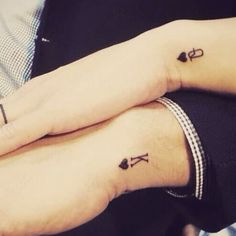 His and Hers Tattoos - Best Tattoo Ideas and Designs For Men, Women and Couples . - His and Hers Tattoos – Best Tattoo Ideas and Designs For Men, Women and Couples – Cute Matching - Him And Her Tattoos, Cool Tattoos For Guys, Great Tattoos, Trendy Tattoos, Small Tattoos, Tattoos For Women, Diy Tattoo, Tattoo P, Tattoo Style