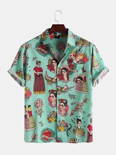 STORTO Mens Floral Dress Shirt Slim Fit Casual Paisley Printed Shirt Pajamas Top