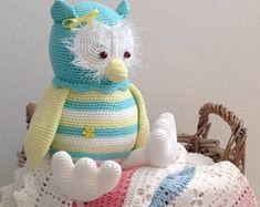 Stuffed crochet animal/crochet owl/ amigurumi