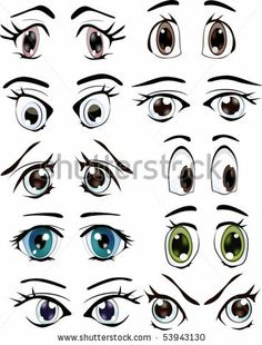 The complete set of the drawn eyes by Liusa, via Shutterstock