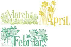 Title illustrations for Flower Calendar.