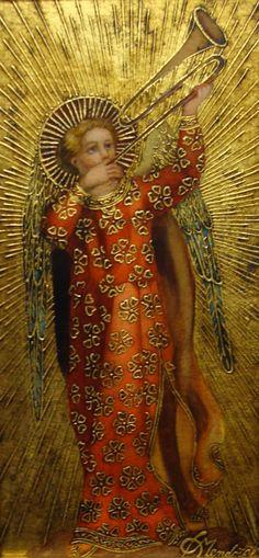 Trumpeting Angel, Diana Mendoza (20th-21st century), Sorelle Gallery. http://www.sorellegallery.com/artist/diana_mendoza/: