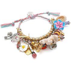 Venessa Arizaga Unicorn Dreams Bracelet (310 NZD) ❤ liked on Polyvore featuring jewelry, bracelets, cotton candy multi, charm bracelet, charm bangle, bracelet charms, unicorn charm y bracelet bangle