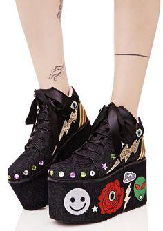 Y.R.U. Qozmo Partii Patched Platform Sneakers Platform Sneakers f3343a8a796